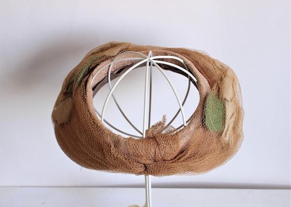 Vintage 1930s Hat / Blush Wide Brimmed Hat with N… - image 4