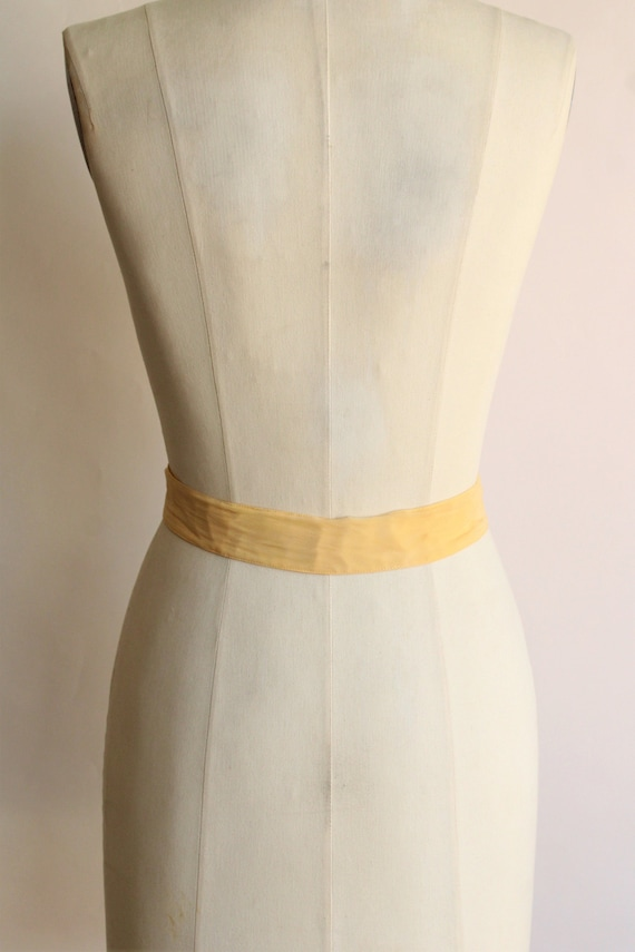 Vintage 1940s Belt / Silk With Fabric Covered Buc… - image 7