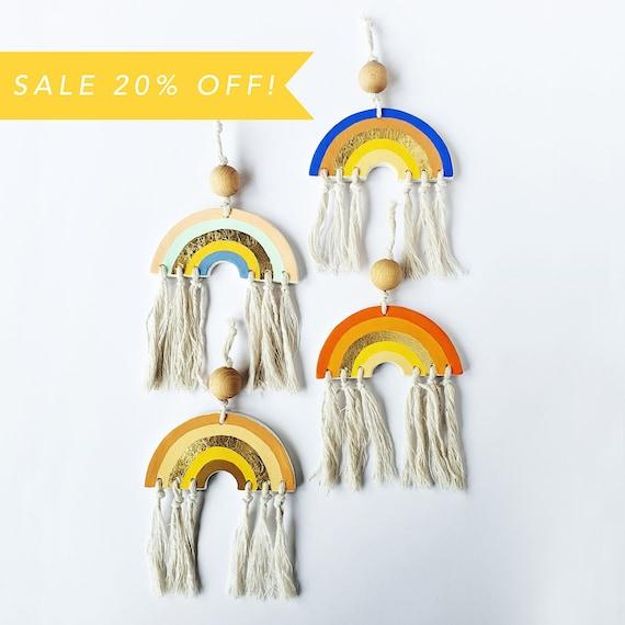 Rainbow Wall Hanging | Hand Made Clay Rainbow Decoration | Nursery Decoration | Clay Wall Hanger | SALE 20% OFF