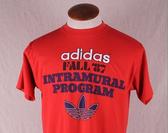d336e5dfc Vintage 1980s adidas 1987 Intramural Program T-Shirt