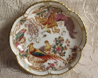 Royal Crown Derby - Olde Avesbury -trinket tray - ring tray - pheasants - vintage fine china - sweetmeats dish - candy dish - ring dish