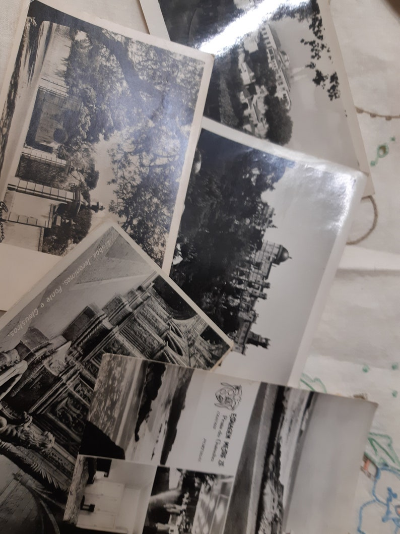 Portugese vintage souvenir black and white glossy tourism  post cards from 1950s and 60s