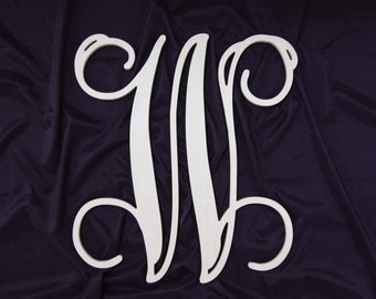"20"" wooden letter wreath wall monogram nursery decor .Unpainted"