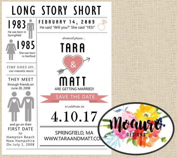 Love Story Timeline Save The Date