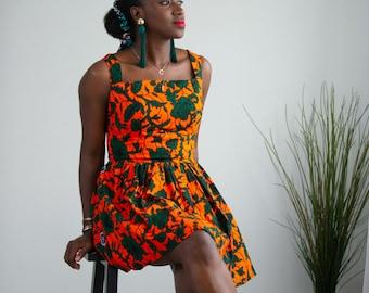 Ewa Ankara Print Women's Dress - Adults