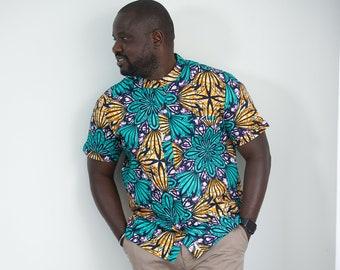 Ogo Ankara Print Men's Shirt - Adults