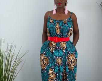 Dabira Ankara Print Women's Maxi Dress  - Adults