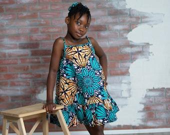 Dabira Ankara Print Girl's Dress - Kids