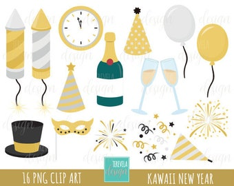 50 sale new year clipart commercial use happy new year graphic instant download party clipart cute graphics gold silver celebration