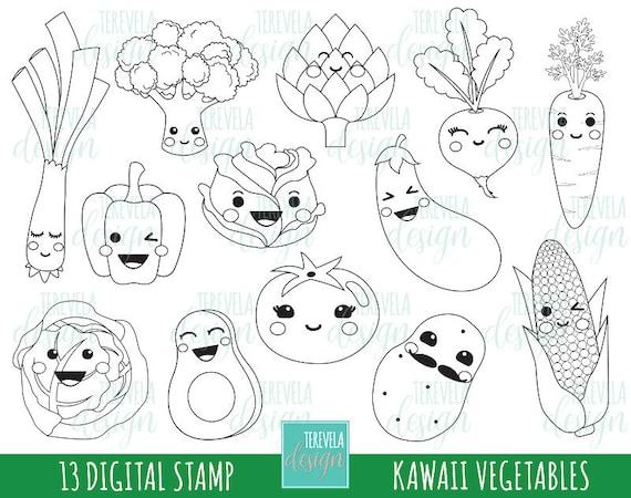 50 Sale Gemüse Stempel Kommerzielle Nutzung Etsy