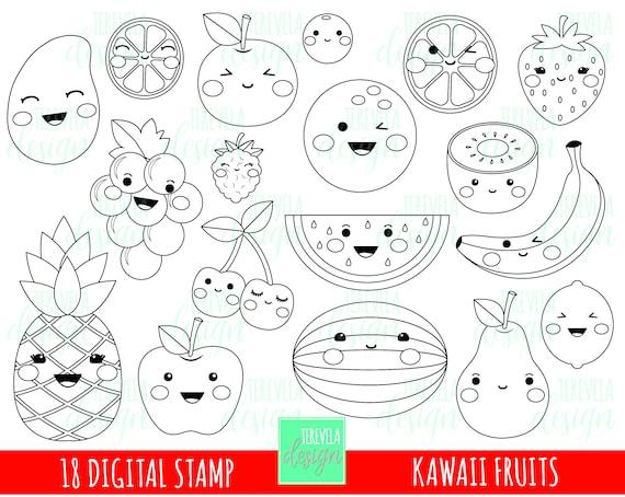 50 Verkauf Früchte Digitaler Stempel Früchte Stempel Etsy