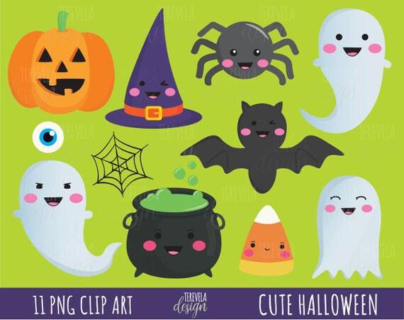 50% SALE HALLOWEEN clipart cute halloween clipart kawaii ... (570 x 451 Pixel)