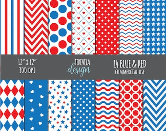 50% 4TH OF JULY paper set, commercial use, paper pack, digital background, independence day, cute paper, web design, cute, background