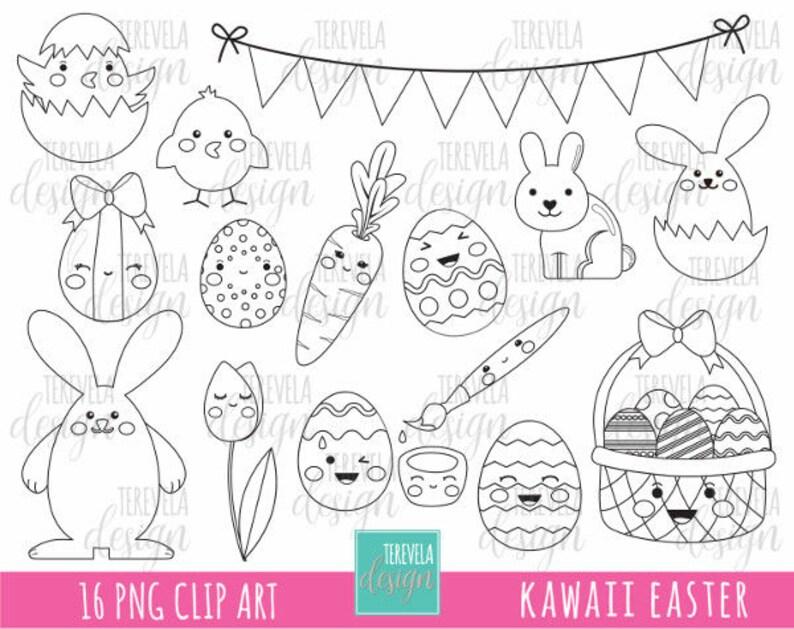 50 Vente Easter Timbres Numeriques Oeufs De Paques Digi Etsy