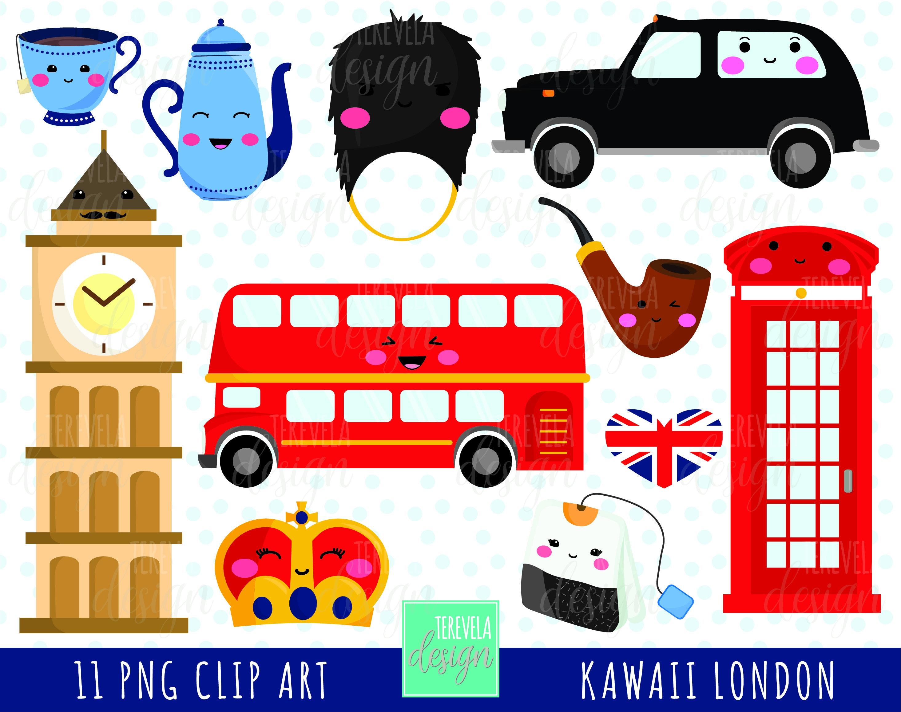 50 % Verkauf LONDON ClipArt uk Grafiken/British Reise | Etsy