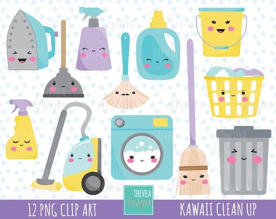 50 Verkauf Reinigung Clipart Kommerzielle Nutzung Kawaii Etsy