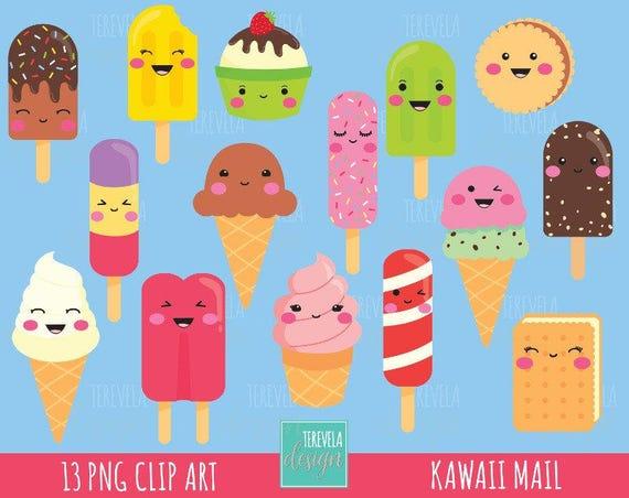 50% SALE ICE CREAM clipart ice cream graphics kawaii ice ...