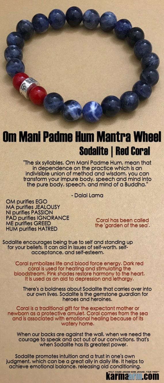 b899bad124d684 KarmaArm - Buddhist Bracelet ॐ Om Mani Padme Hum Prayer Wheel ...