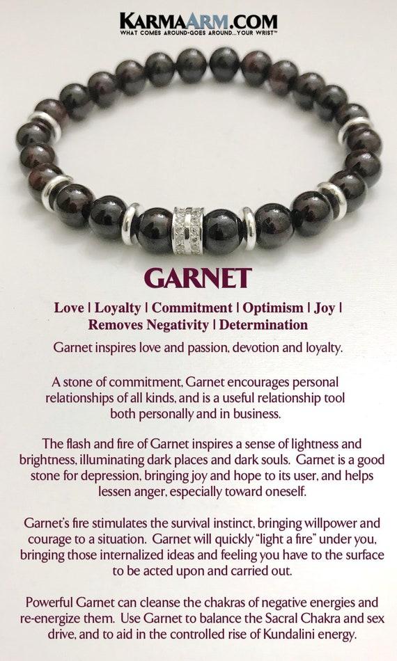 845e47de50003 HAPPINESS  Garnet Charm Bracelets Yoga Bracelets BoHo