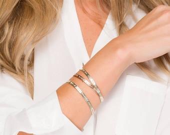 Silver or gold or rose gold Half Cuff Bracelet, quote cuff Bracelet, Custom Coordinates Bracelet, Coordinates Jewelry,Latitude Longitude