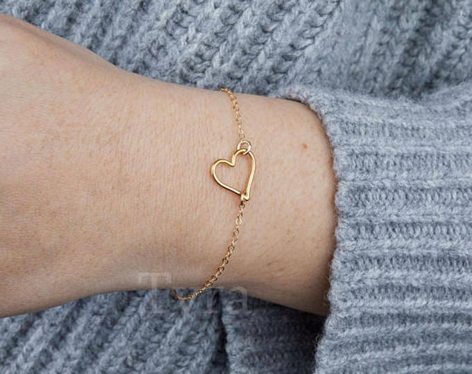 heart outline bracelet,open heart,hollow heart bracelet,infinite love,couple bracelet,Valentine's Day gift,anniversary gift,bridesmaid gift