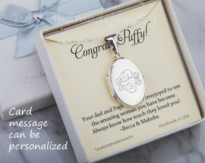 Engraved sterling silver locket,Oval photo Locket necklace,Long layered necklace,Memory locket,anniversary gift,Valentine's day gift,
