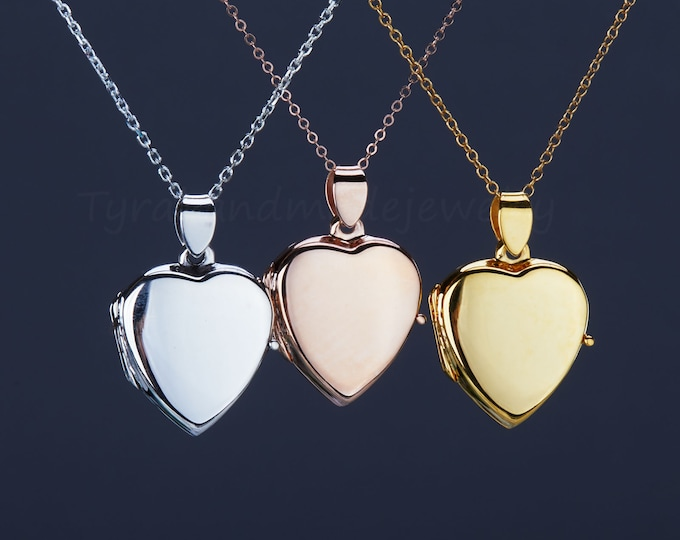 custom engrave gold heart photo locket,Personalized rose gold Locket,etched border,remembrance locket,Memory locket,mother anniversary gift