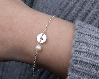Personalized Initial Bracelet,gift for bridesmaid,monogram,stamped initial,Bridesmaid gift,Birthday,Wedding Jewelry,Best Friends gift