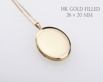 Large 14K Gold Filled oval photo locket,custom engrave,remembrance locket,Memory locket,bereavement gift,anniversary locket,wedding locket