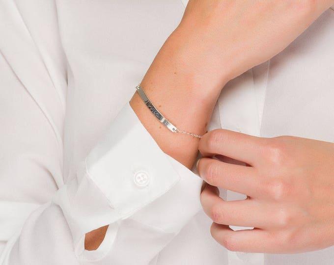 Personalized Perfect Bar Bracelet for Names,Silver or gold or rose gold bar Bracelet, Custom Coordinates Bracelet, Coordinates bar Jewelry