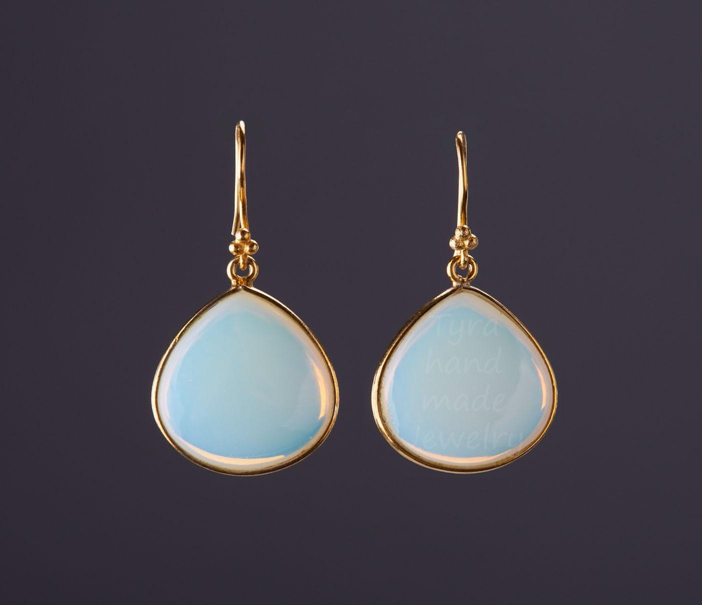 October Birthday Gift October Birthstone Opal Earrings