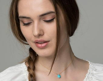 Silver/Gold/Rose gold,Sleeping beauty turquoise wire wrapped layered necklace,Turquoise necklace,Layered necklace,Turquoise choker