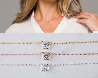 Tiny dot necklace,Diamond by the yard,Diamond cut tiny dot Necklace,Bridesmaid gifts,Wedding Bridal Jewelry,Message card jewelry
