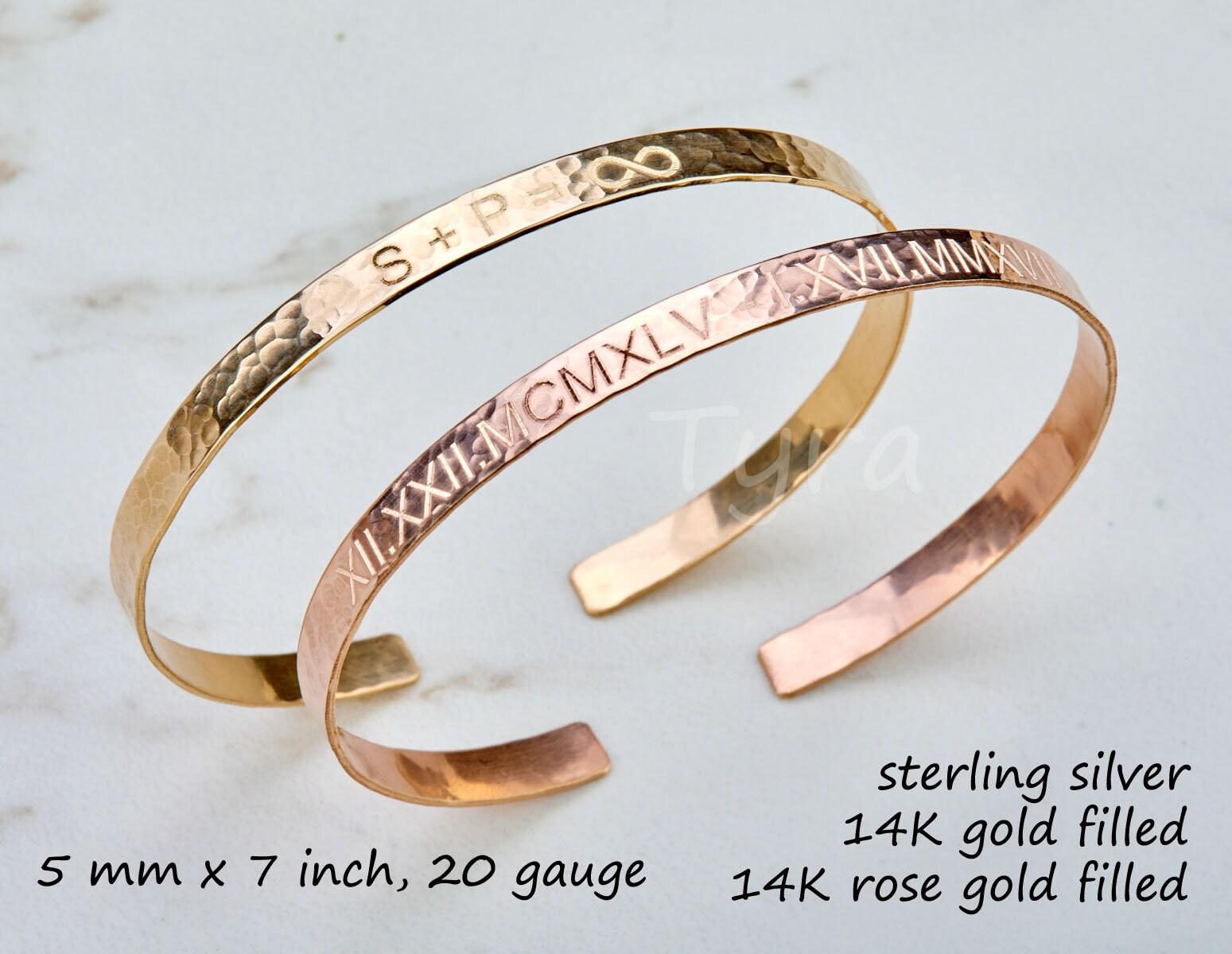 78ab32e5ead ... rose gold,full name half cuff bracelet,quote cuff Bracelet,initial  monogram cuff. 1