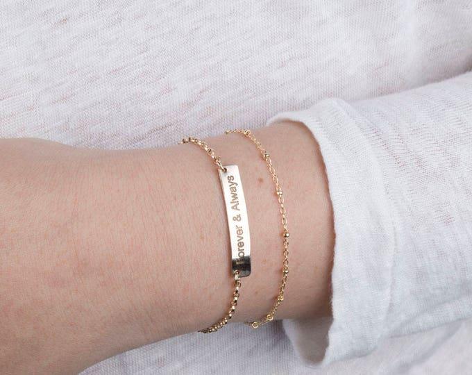 Satellite Beaded Chain bracelet,Delicate Dew Drops Bracelet,Layering Bracelet, Delicate beaded bracelet