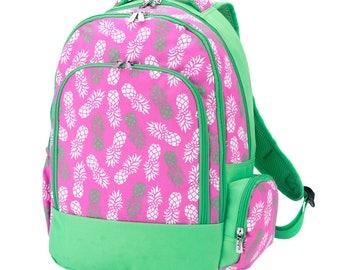 Back To School Teen Bookbag Aqua Back Pack Preppy Personalized Monogrammed Book Bag Teen Back Pack Personalized Book bag Back Pack