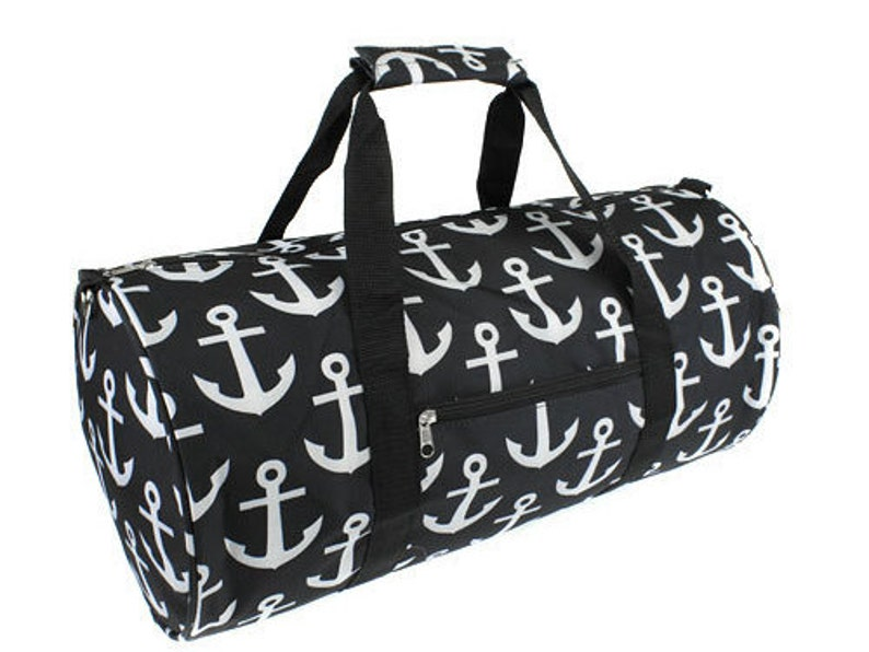 cf801f2734c9 Monogrammed Round Duffle Bag Black Anchor
