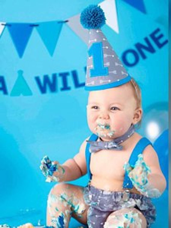 Ready To Post Boys 1st Birthday Cake Smash Outfit Light Blue