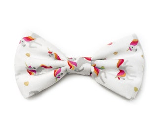 The Angell Bow Tie — Dog Bowtie, Made in Brooklyn, Bowtied, Rainbow, Unicorn, Wedding Clothes, Ring Bearer, Collar, Magical