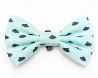 The Spencer Bow Tie — Dog Bowtie, Brooklyn Bowtied, Poop, Turd Ring Bearer, Collar, Outfit, Funny, Mint, Teal