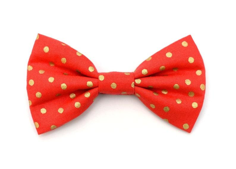 The Emeline Bow Tie Brooklyn Bowtied Dog Bow Tie Polka image 0