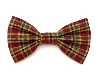 The Elmgrove Bow Tie —Brooklyn Bowtied, Dog Bow Tie, Plaid, Red, Green, Holiday, Christmas, Rustic, Wedding Outfit, Bowtie, Gift