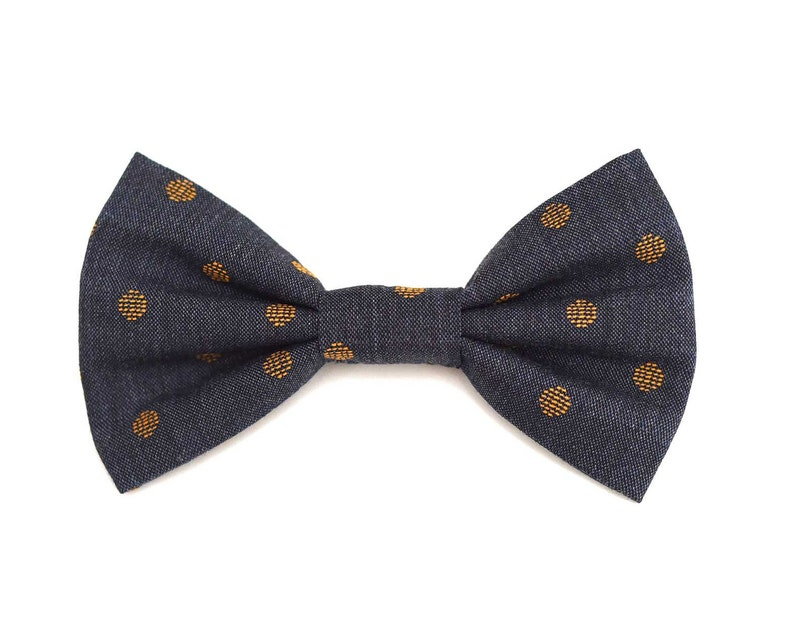 The Roder Bow Tie  Dog Bowtie Brooklyn Bowtied Denim image 0