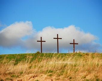 3 Crosses On Hill Etsy