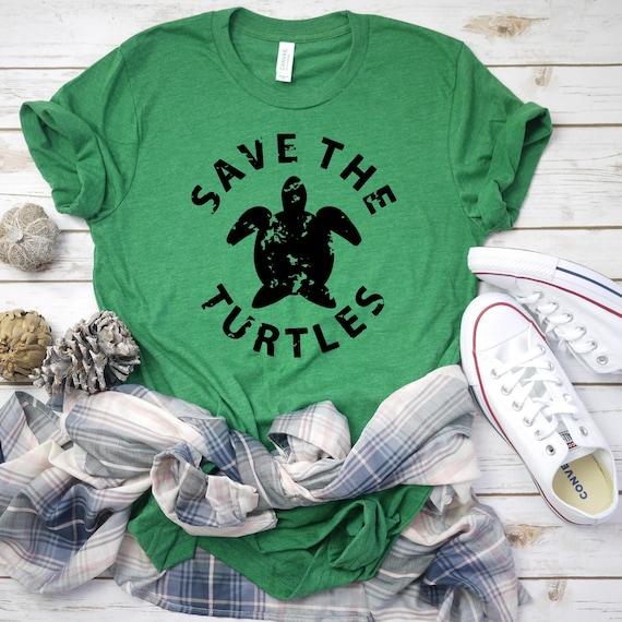 VSCO Custom Colors SkSkSk and i oop Save the Turtles Shirt