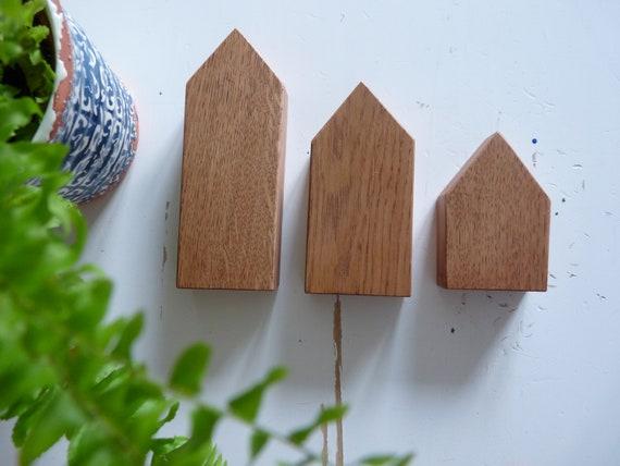 Ensemble de maisons en bois fait à la main décoration de maison