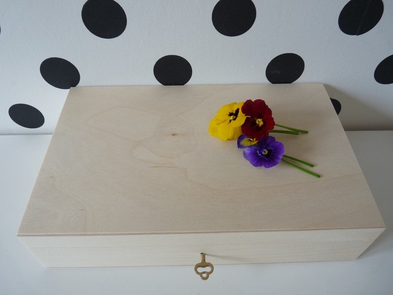 treasure chest box 2 pcs Set of 2 unfinished large wooden boxes with key lock jewelry letters unfinished unpainted plain blank wooden box