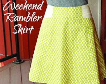 Printed Pattern Weekend Rambler Skirt Snapdragon Studios