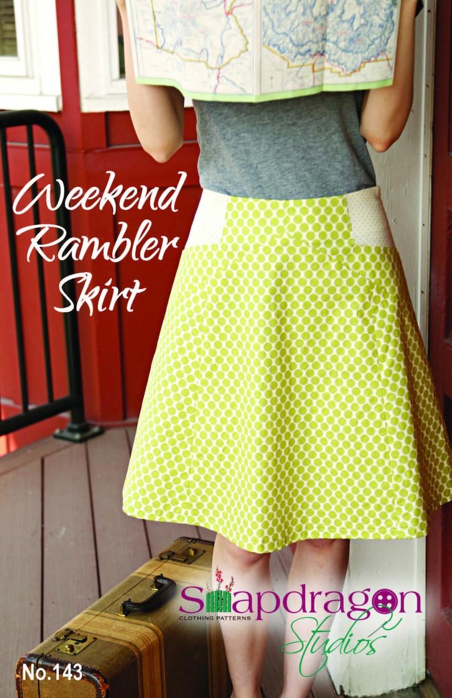Printed Pattern Weekend Rambler Skirt Snapdragon Studios image 0