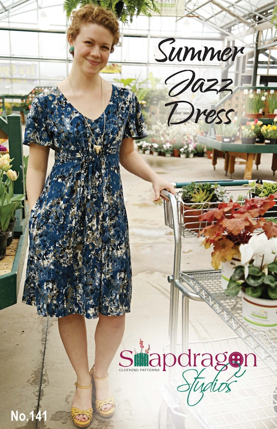 PDF Summer Jazz Dress Pattern Snapdragon Studios | Etsy